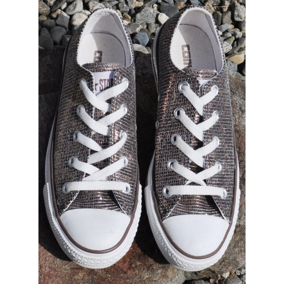 ffe98ddd1c2d71 NEW Converse All Star BRONZE shimmer sparkle